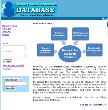 Bahay Kubo Research Database site enhancements: Making it more social